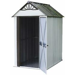Small Space 4X6 feet Steel Metal Swing Doors Designer Metro Storage Shed