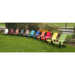 Custom Colors Poly Plastic Outdoor Weather Resistant Fanback Adirondack Chairs