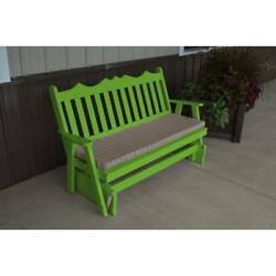 Royal English Rocking Glider Bench in Pine Wood 45 or 6 Ft Wide Any Color