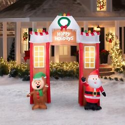 Christmas Inflatable Gingerbread Man Santa Claus Archway 10'6 Outdoor Decoration