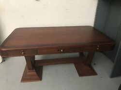 Stunning Hardwood Executive Antique Desk Made In August 1929