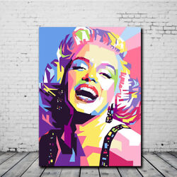 Marilyn Monroe Oil Painting Canvas Print Wall Art Picture Modern Bedroom Decor