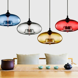 Modern Glass Pendant Colored Hanging Ceiling Light Island Chandelier Lamp $42.99