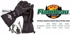 New Large Heated Gloves Flambeau F200 Rechargeable ION Hand Warmers Hunting