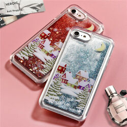 Shockproof Christmas Glitter Quicksand Liquid Case Cover For iPhone 8 6 7 Plus X $6.99