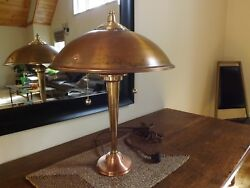 Restored Art Deco Style CopperBrass Lamp