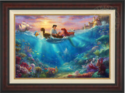 Thomas Kinkade Disney The Little Mermaid Falling in Love 24 x 36 LE EE Canvas