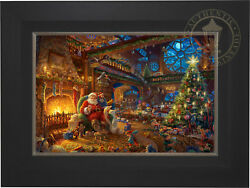 Thomas Kinkade Santa's Workshop 18 x 27 Limited Edition EE Canvas