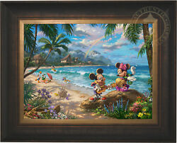 Thomas Kinkade Mickey and Minnie in Hawaii 18 x 24 Limited Edition EE Canvas
