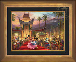 Thomas Kinkade Mickey and Minnie in Hollywood 18 x 24 Limited Edition EE Canvas