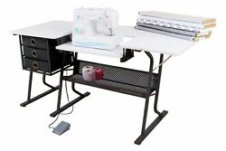 Sewing Machine Table Cabinet Comfort Portable Hobby Center Desk Storage Set New