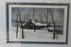P. Buckley Moss  Log Cabin Pioneer Home 1991 - 3699 SIGNED
