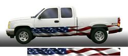 American flag Rocker Panel Graphic Decal Wrap Kit Truck SUV