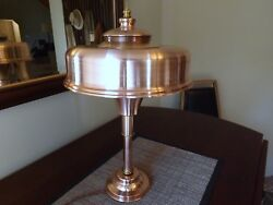 Art Deco Machine Age Copper Lamp