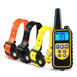 2600FT Remote Dog Shock Training Collar Rechargeable Waterproof LCD Pet Trainer $38.99