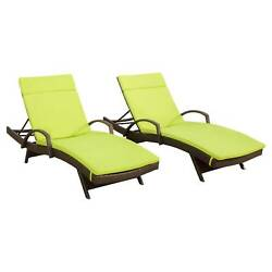 Salem Set of 2 Brown Wicker Adjustable Chaise Lounge with Arms - Christopher ...