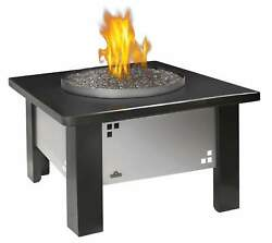 Napoleon Patioflame Fire Pit Table w Glass and Granite Top Propane Gas