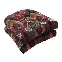Wicker Seat Cushion For Home Outdoor Patio Chaise Seater Furniture Marapi Black