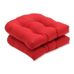 Wicker Seat Cushion For Home Outdoor Lawn Patio Chaise Seater Furniture Red New