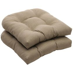 Wicker Seat Cushion For Home Outdoor Lawn Patio Chaise Seater Furniture Taupe