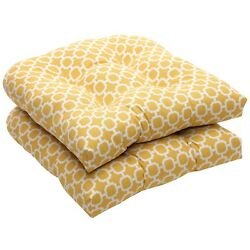 Wicker Seat Cushion For Home Outdoor Patio Chaise Seater Furniture Yellow White