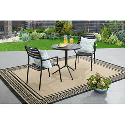 Homes and Gardens 3-Piece Bistro Set Seats 2 Home Yard Deck Patio Furniture