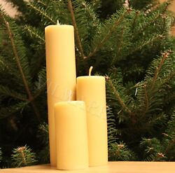Handmade 100% Pure Beeswax Candles Cotton Wick $17.99