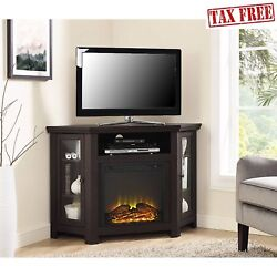 48 Inch TV Stand With Fireplace Media Console Electric Entertainment Center SALE