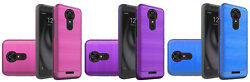 Edged Lining Brush Hybrid Case Cover for Coolpad Revvl Plus C3701A $6.16