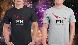 SpaceX Falcon Heavy Rocket Space X Black T-Shirt Grey Tee Size S to 3XL