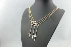 Women Fashion Jewelry Rose Gold Plated Infinity Cross Necklace 58-3