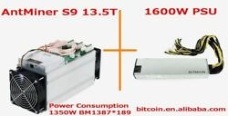 AntMiner S9 13.5T Bitcoin Miner