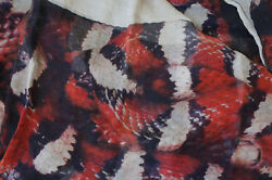 NWT Faliero Sarti Red Cashmere POISON Serpent Scarf - Super Cool!