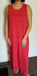 Classy Long Red Dress Small S Chicos $9.99