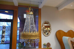 Seattle Orpheum Theater Gilded Bronze & Crystal Chandelier French; Circ 1910