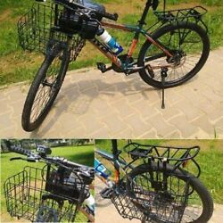 Foldable Folding Metal Wire Basket for Bike Bicycle Front Bag Rear Hanging Bike $20.95