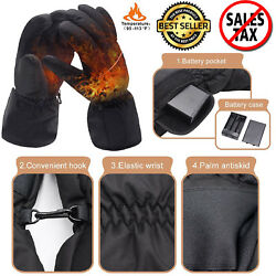 Winter Thermo Gloves Electric Battery Heated Outdoor Waterproof Hand Warmer