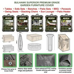 BULHAWK WATERPROOF SUPERIOR QUALITY GARDEN OUTDOOR TABLE BENCH FURNITURE COVER