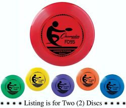 Champion Sports 95 Gram Competition Plastic Frisbee Assorted Colors Pack of 2 $8.97