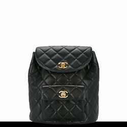 Chanel Quilted Lambskin Black Backpack