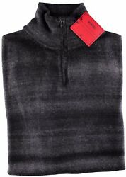 NWT ISAIA 100% pure cashmere SWEATER 12 zip lupetto grey 2 ply luxury Italy M