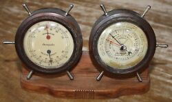 Vintage Airguide Thermometer Humidity & Barometer Desk Instrument - Functional $45.00