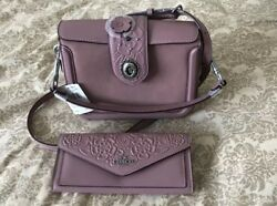 NWT COACH PAGE CROSSBODY WITH TEA ROSE TOOLING 12033 DUSTY ROSE -wwallet
