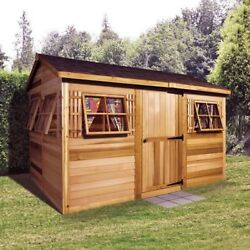 Woman Cave She Shed Lady Cabana Garden Shed Western Red Cedar Construction 12x8'