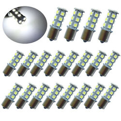 20Pc DC12V 1156 1003 1141 18 SMD Interior RV Camper White LED Tail Backup Bulb