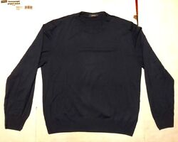 KITON NAVY BLUE SWEATER 100% MERINO SIZE XL USED GREAT CONDITION