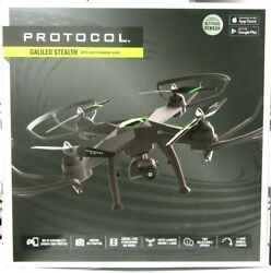Protocol Galileo Stealth Quadcopter Drone with Camera Ready to Fly Black $149.99