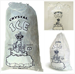 20 LB LBS Ice Bag Bags w Drawstring COMMERCIAL Choose Your Quantities $28.99