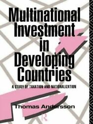 Multinational Investment in Developing Countries by Thomas Andersson: New
