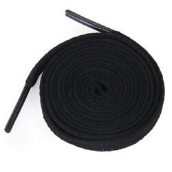 6 pairs Shoes 45 inch Black Flat Shoes Laces Tennis Shoes Boots 8mm Largely Cord